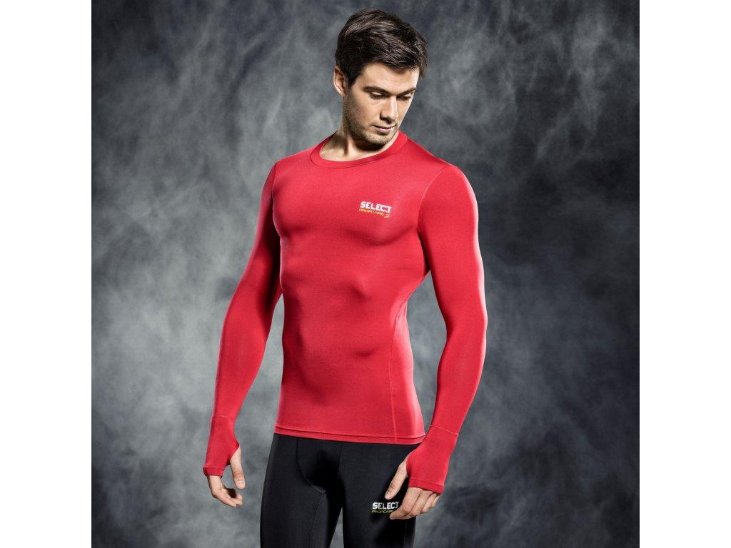 Kompresní triko Select Compression T-shirt L/S 6902 červená