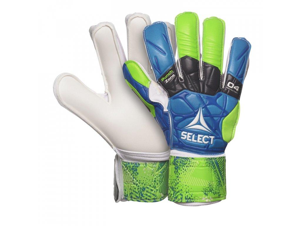 Brankářské rukavice Select GK gloves 04 Protection Flat cut modro zelená
