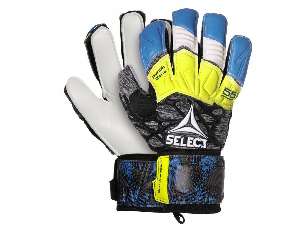Brankářské rukavice Select GK gloves 55 Extra Force Flat cut modro šedá