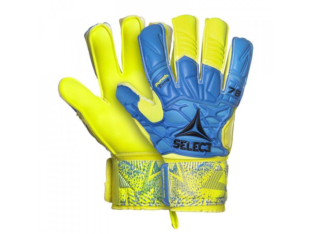 Brankářské rukavice Select GK gloves 78 Protection Flat cut modro žlutá