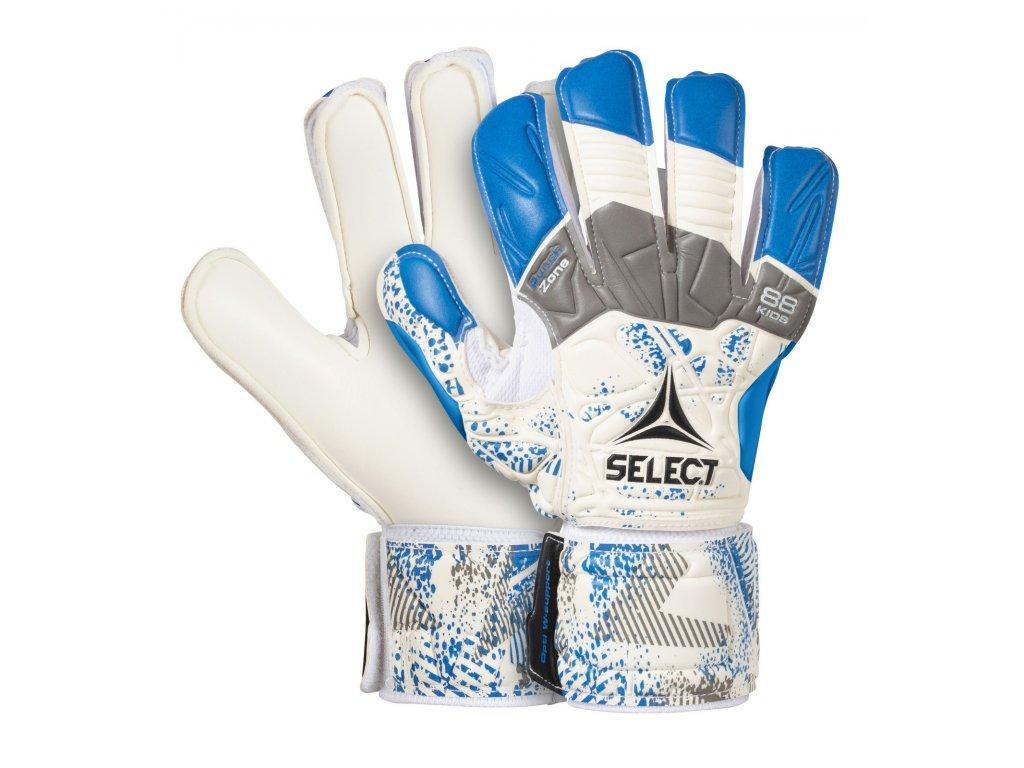 Brankářské rukavice Select GK gloves 88 Kids Flat Cut bílo modrá