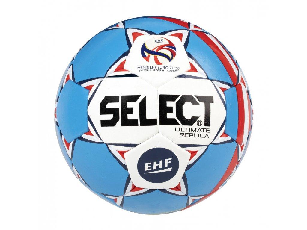Házenkářský míč Select HB Ultimate EURO 2020 Replica bílo modrá