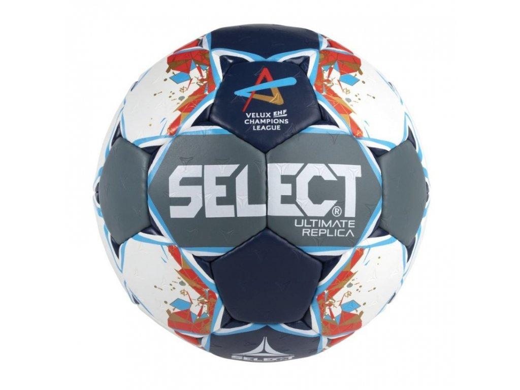Házenkářský míč Select HB Ultimate Replica Champions League Men šedo modrá