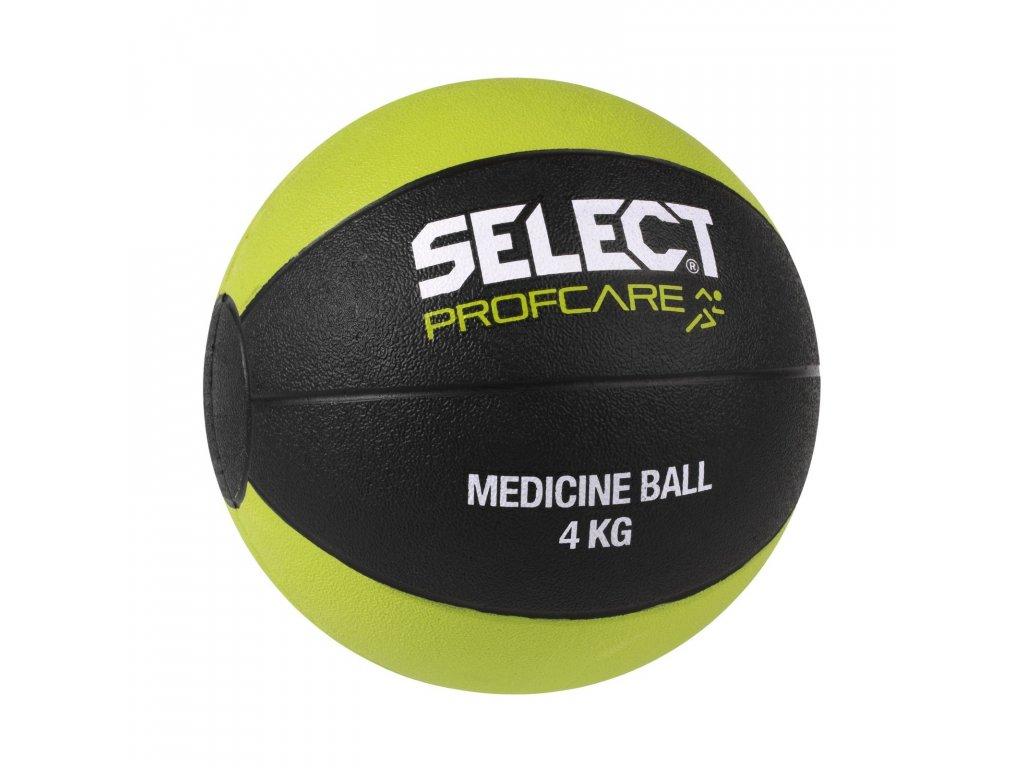 Míč medicinální Select 4kg černo zelená
