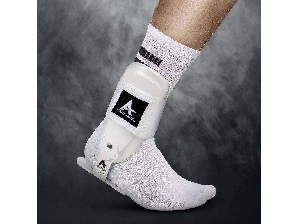 Chránič kotníku Select Active ankle T-2 bílá