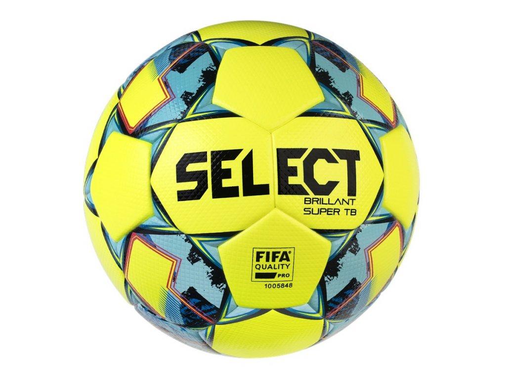Fotbalový míč Select FB Brillant Super TB žluto modrá
