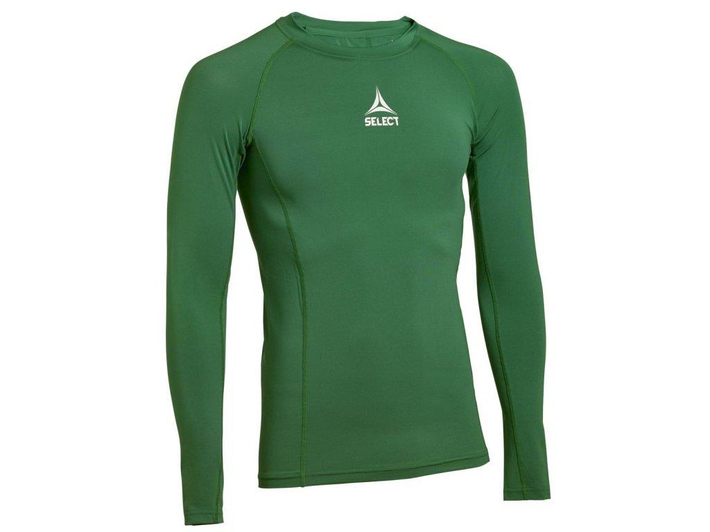 Kompresní triko Select Shirts L/S Baselayer zelená