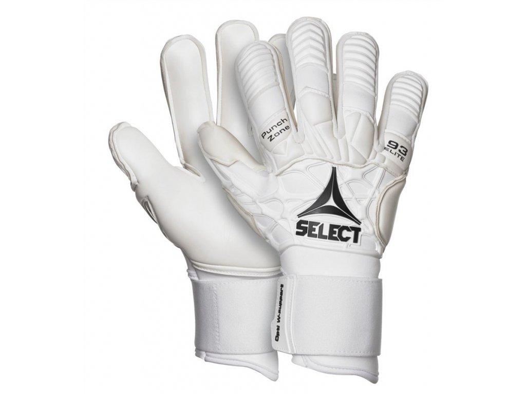 Brankářské rukavice Select GK gloves 93 Elite bílá
