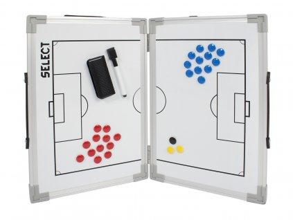 Taktická tabule Select Tactics board foldable football bílá