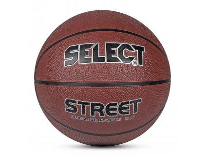 Select Basketbalový míč Basketball Street hnědá