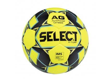Select Fotbalový míč FB X-Turf žluto šedá