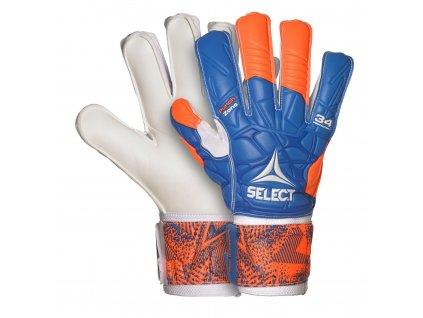 Brankářské rukavice Select GK gloves 34 Protection Flat cut oranžovo modrá