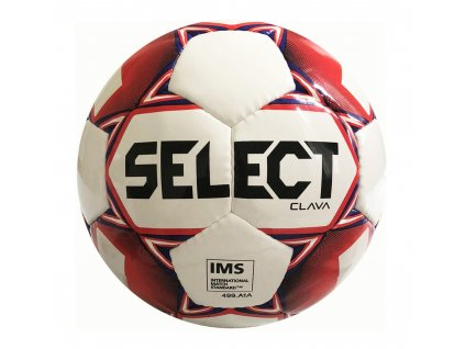 Fotbalový míč Select FB Clava bílo červená