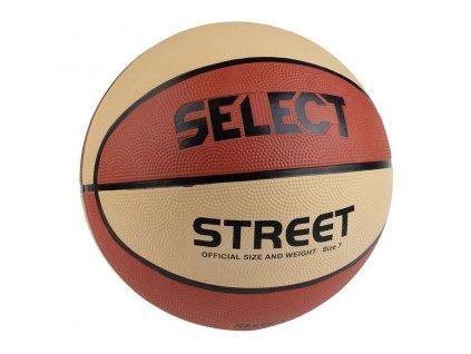 Basketbalový míč Select Basketball Street béžovo oranžová