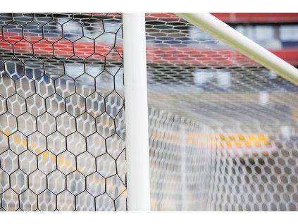 Fotbalová branková síť 3,5 mm polypropylen, plástvová oka, TV provedení, box