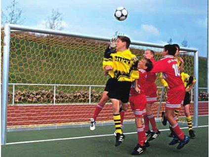 Fotbalová branková síť 3,5 mm Junior, polypropylen, plástvová oka