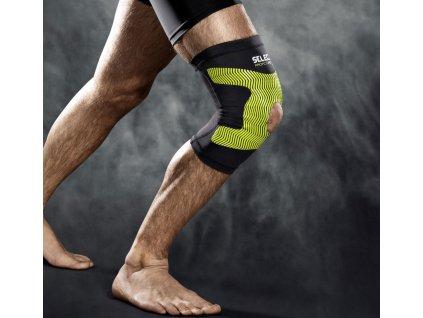 Select Kompresní bandáž kolene Compression knee support 6252 černá