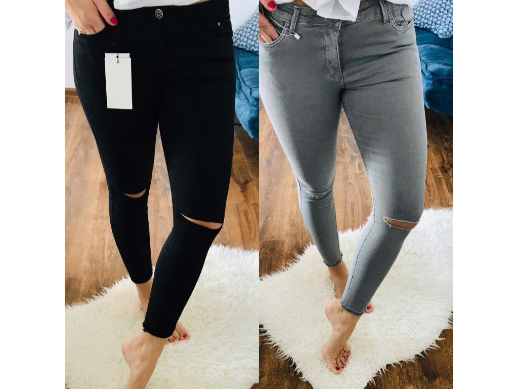 SLIM FIT RIFLE s průstřihy na kolenou /barvy