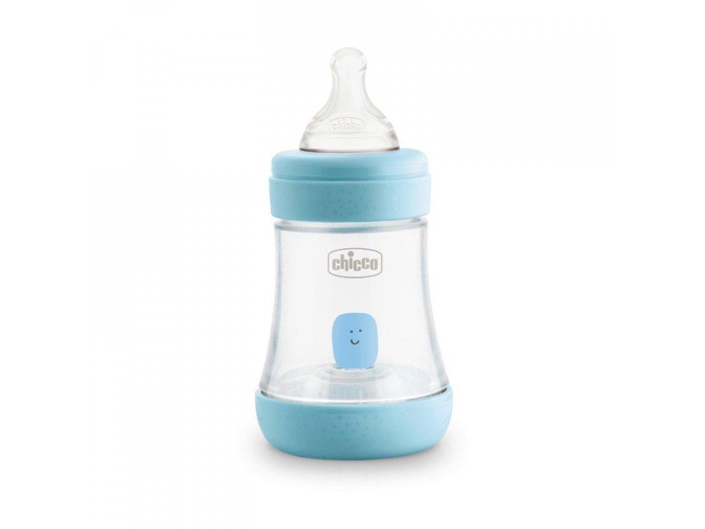 CHICCO Láhev kojenecká Perfect 5 silikon, 150 ml chlapec