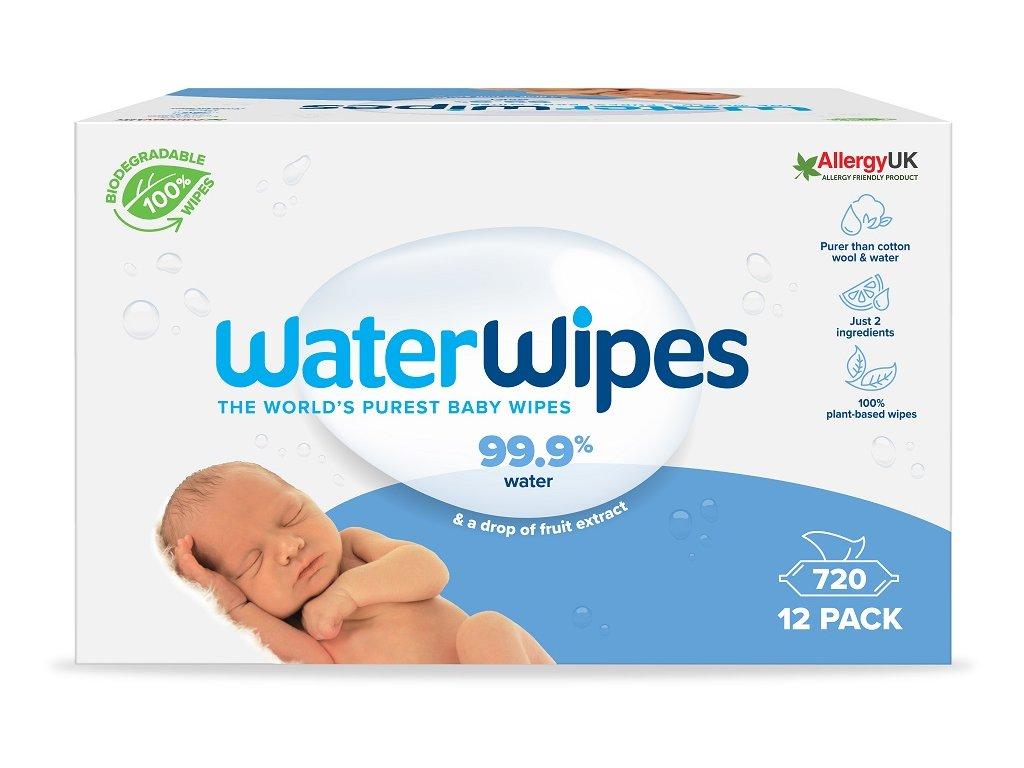 WATERWIPES 100% BIO odbouratené ubrousky 60 ks 12x