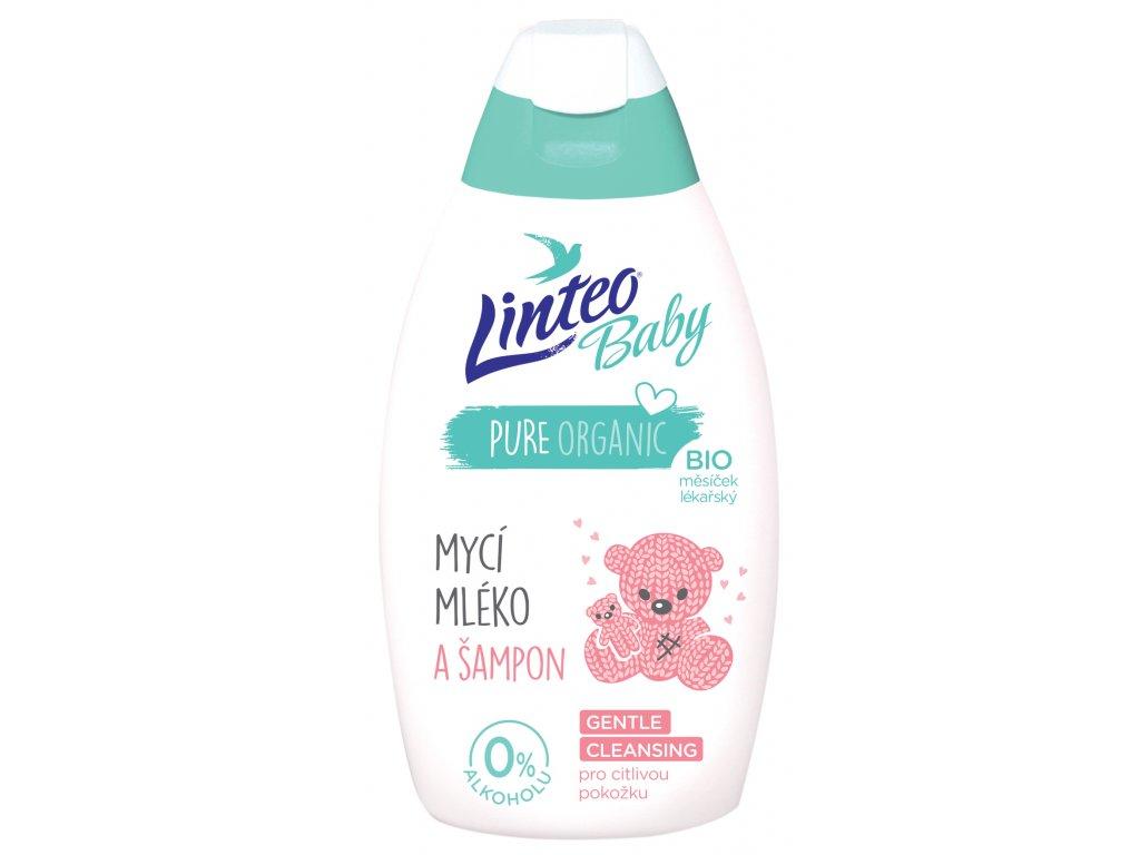 1064 mycí mléko a šampón LINTEO BABY 425ml lN