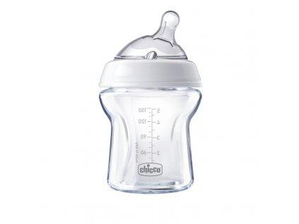 CHICCO Láhev kojenecká Natural Feeling 150 ml skleněná, neutral 0m+
