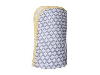 MOTHERHOOD Deka bavlněná mušelínová dvouvrstvá Pre-Washed Grey Classics 95x110 cm