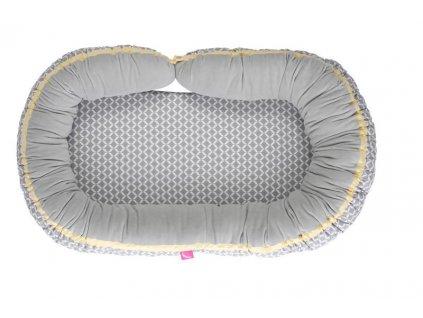 MOTHERHOOD Hnízdo pro miminko 2v1 Grey Classics 95x62 cm