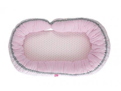 MOTHERHOOD Hnízdo pro miminko 2v1 Pink Classics 95x62 cm