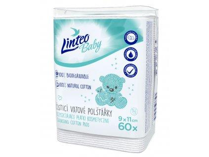 102887 vatové čisticí polštářky LINTEO BABY 60ks