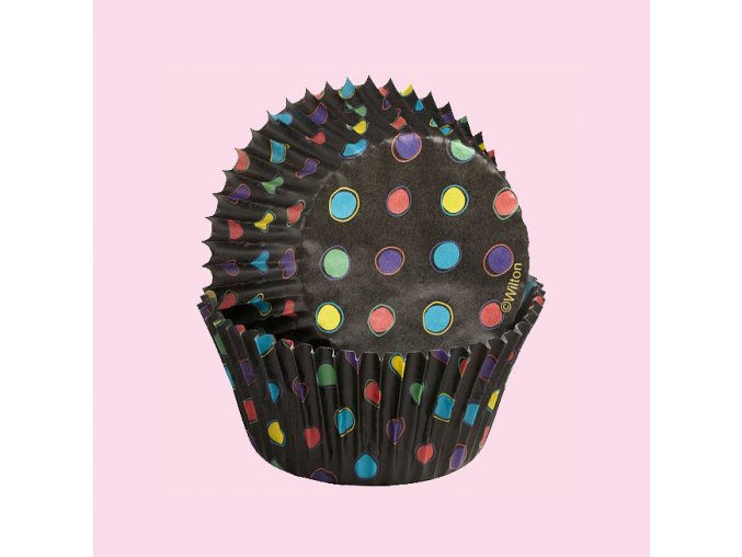 Wilton black neon dots