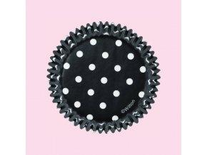 Wilton černý s bílými puntíky
