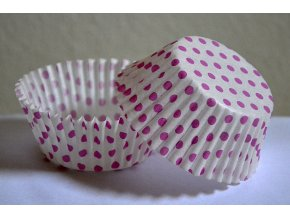 Bílé s růžovými puntíky