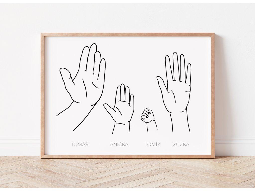 ruce rodina plakát