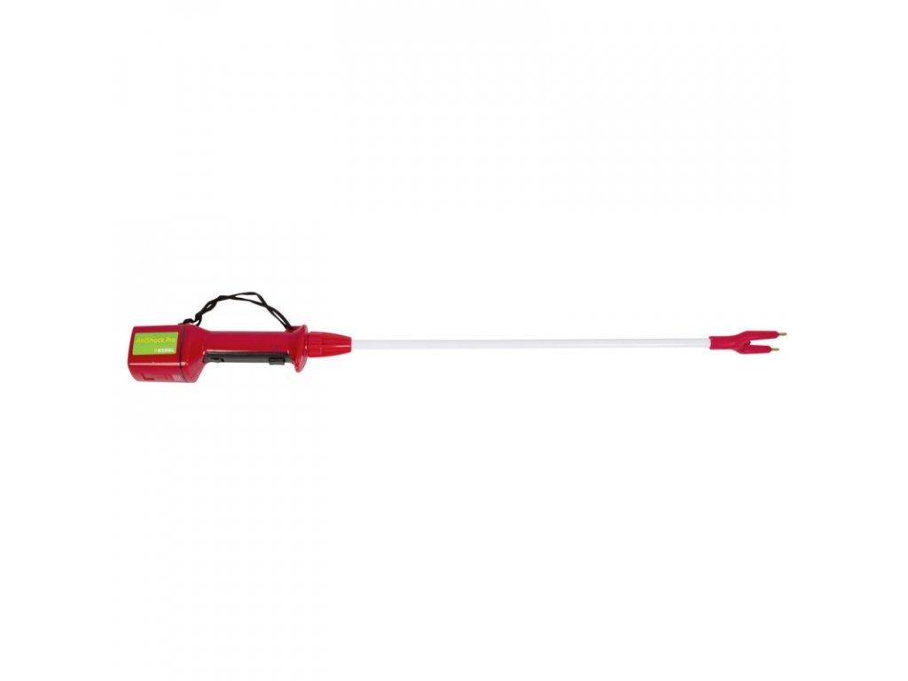 Pohaněč elektrický AniShock PRO 2500, nabíjecí, červený, na skot a prasata