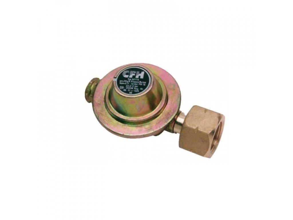 Regulátor tlaku k odrohovači na 2 kg PB láhev, regulovatelný tlak