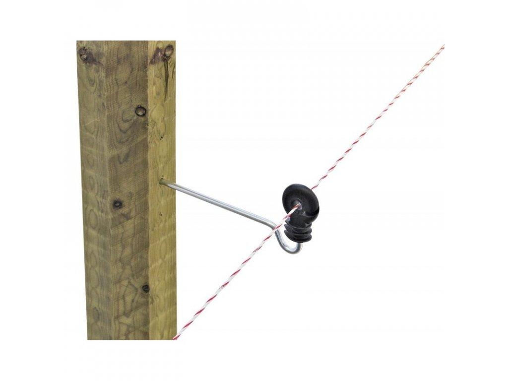 Izolátor kruhový distanční pro elektrický ohradník, s vrutem, 22 cm