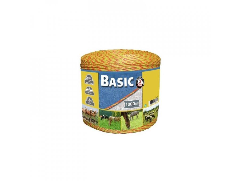 Lanko BASIC pro el. ohradník, 3 mm x 1000 m, 3x Ni 0,20 mm, žluto-oranž.
