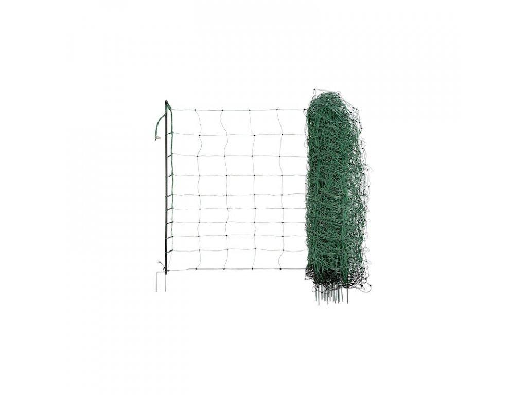 Síť pro elektrické ohradníky na ovce Ovinet 90 cm, 50 m, 2 hroty, zelená