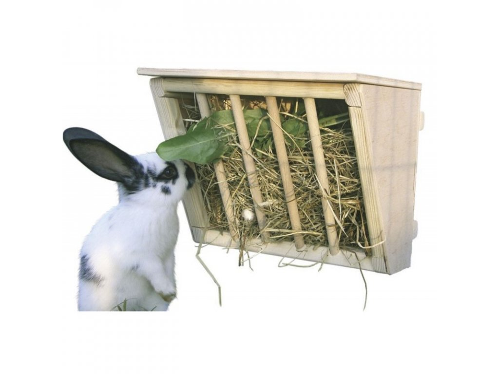 Jesle na seno pro králíky dřevěné