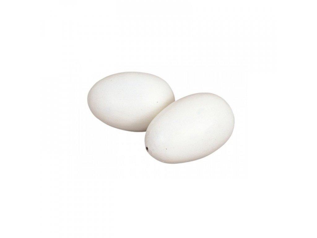 Vejce umělé větší, podkladek pro větší drůbež, plast
