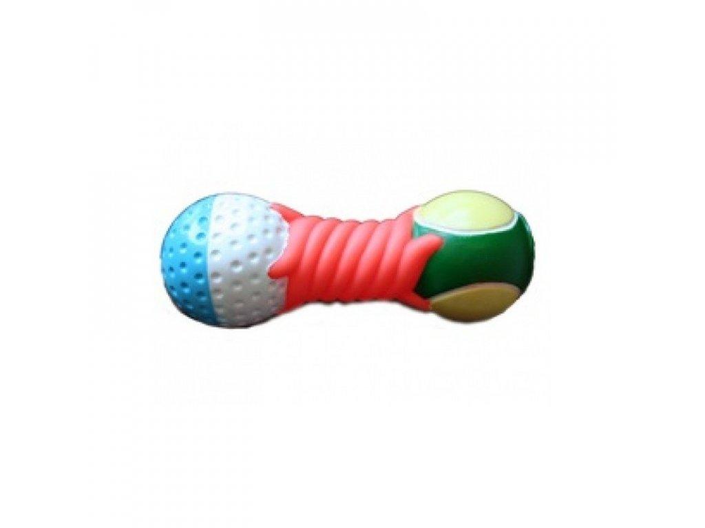 Hračka pro psy vinylová - činka Sports 14,5 cm