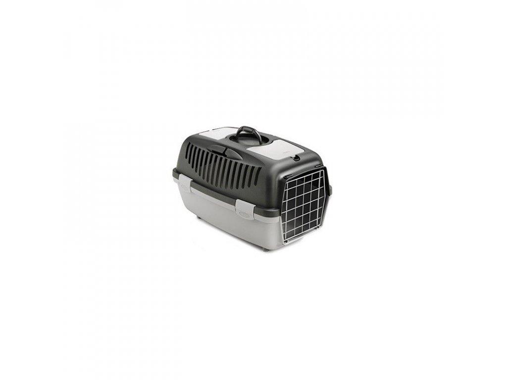 Přepravka pro psy a kočky Gulliver 2, šedá, 55x36x35cm, kovová dvířka