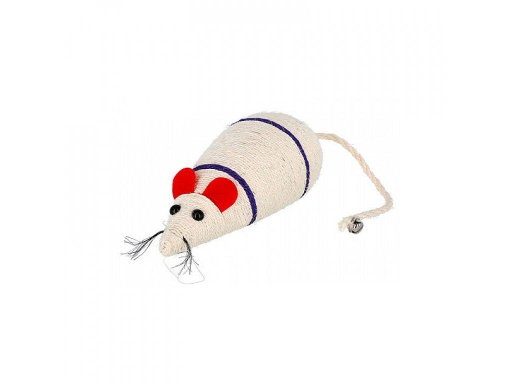 Hračka pro kočky - škrabadlo - myš ze sisalu, 31,5 x 13 x 10,5 cm