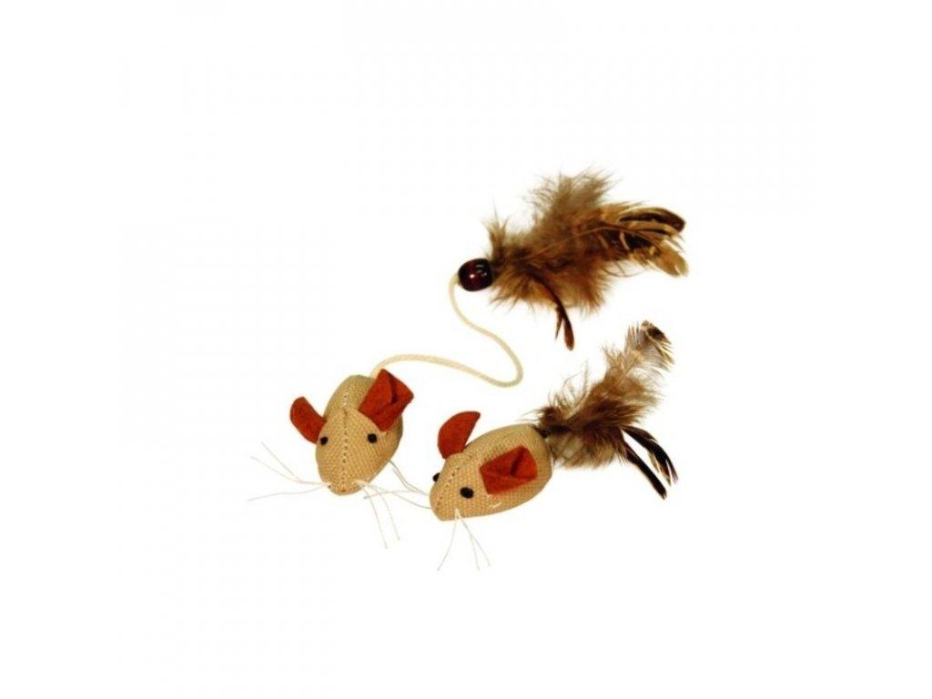 Hračka pro kočky - myš Nature, 2 ks
