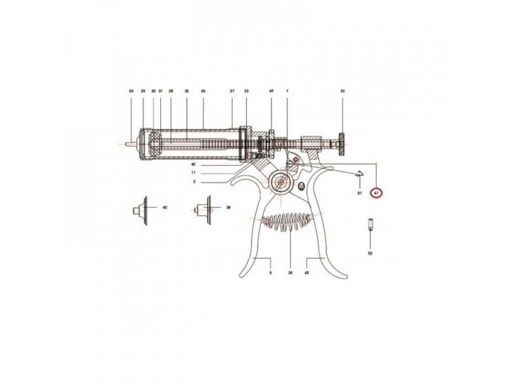Háček posouvací k poloautomatu Roux-Revolver