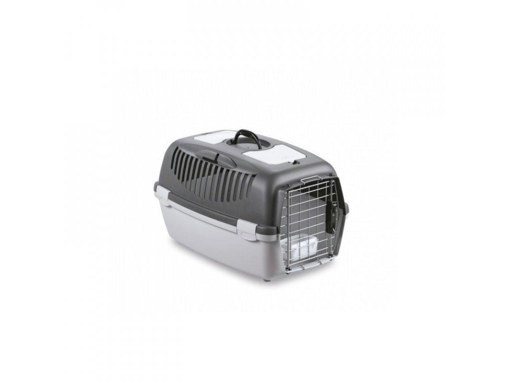 Spodní díl přepravky pro psy a kočky Gulliver 3 DELUXE, 61x40x38cm, šedá