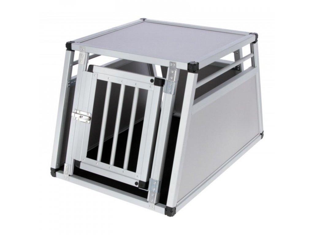 Box transportní pro psy Barry, hliníkový, 77x55x50 cm
