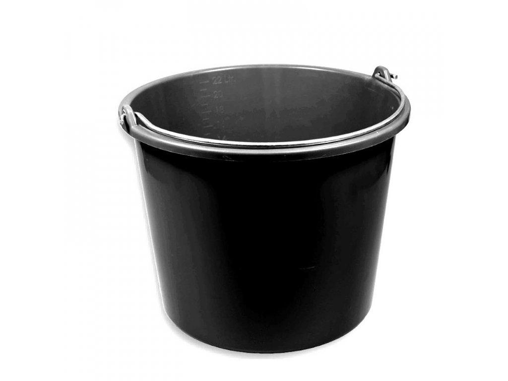 Kbelík krmný plastový 12 l, černý