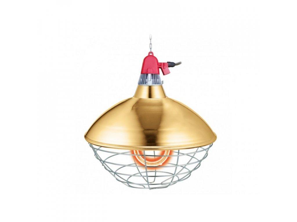 Interheat karbonová lampa pro drůbež a selata CGB300, prům. 40 cm